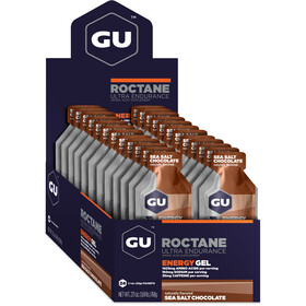 GU Energy Roctane Energy Gel Box 24x32g, Sea Salt Chocolate
